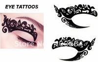 100pcs 2012 NEW type Eye stickers, Temporary Eye Tattoo Transfer Eyeshadow Stickers Eyeliner ,8 styles