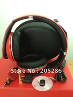 Freeshipping  Hot sale DJ headphone studio  fashion 2012  earphones headset with factory sealed box