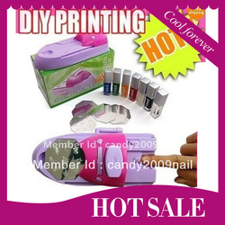 Big Disount ! 7 Colors DIY Nail Printer Pattern Nail Polish Printing Machine Nail Art Stamping Machine, Free Shipping(China (Mainland))