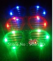 Free shipping 2012 new arrival 3 modes 12pcs/ lot LED Glasses flashing blind glasses Light led Shutter Glasses  for Christmas