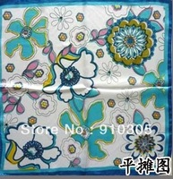 Small facecloth small silk scarf flowers print 52*52cm  free shipping