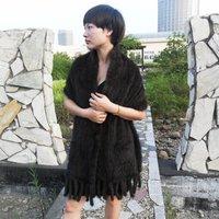 Not sales! Women's knitted real mink scarf fur cape mink fur shawl , 175*35cm,175*55cm  WTP1