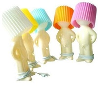 1pc Shy Child Table Lamp,AC220V Reading Lamp,5 Colors Romantic PVC Night Light,free shipping