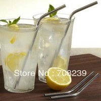 500PCS stainless steel drinking straws and 200PCS stainless steel cleaning brushes