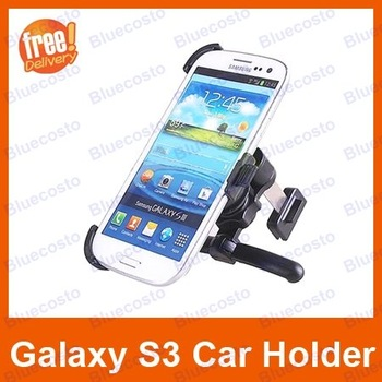Free Shipping i9300 T999 i747 Car Mount Holder,Vehicle Phone Stand For Samsung Galaxy S3 SIII