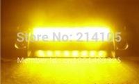 Amber 8 LED High Power Strobe Flash Warning EMS Police Car Light Flashing Firemen Fog Lights 8LED