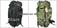 EMS Free Shipping on 60+10 L SPORT CAMPING HIKING MOUNTAIN TRAVEL BACKPACK -Camouflafw /Black