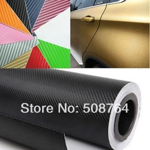100CM*60CM(1M*0.6M) 3D carbon fiber film panel face decoration) film-small DIY piece sticker-color option free shipping