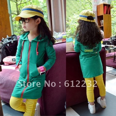 Free shipping autumn 100% cotton long-sleeve sweatshirt hoodie outerwear girls long clothes fleeces dog I WANNA BE A LUCKY JPR(China (Mainland))