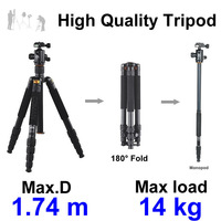68.50'' Coman Professional Tripod Ball Head For Camera & Video DSLR SLR
