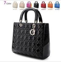 Celebrity Designer Inspired Faux Leather Satchel Tote Lingge Bag BW0052