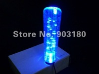 15cm length car Gear Shift Knob with LED, Crystal Acrylic With led lights Gear head, red / blue / Purple, fast shipping