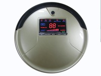 Free Shipping For Russian Buyer / Robot Vacuum Cleaner with Golden Color ,Li-ion Battery , Vacuum And Mop ,1L Rubblish Box