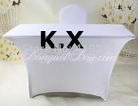 150CM*50CM*76CM White Table Cover \ Spandex Table Cloth