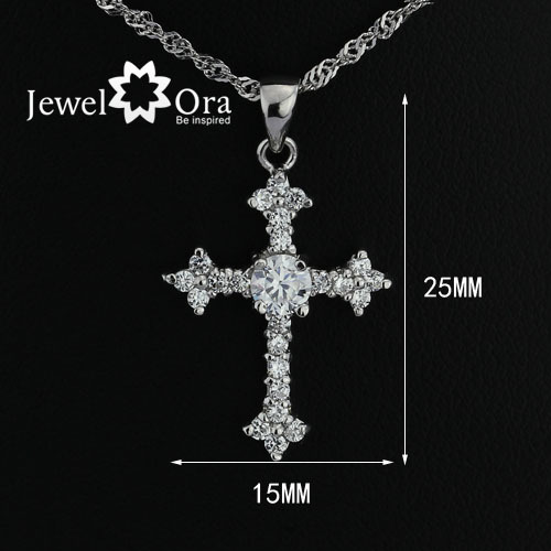 "Wholesale Hot Elegant ""Latin Cross"" 925 Sterling Silver Pendant womens necklaces & pendants wedding jewelry chain #PE100825(China (Mainland))"