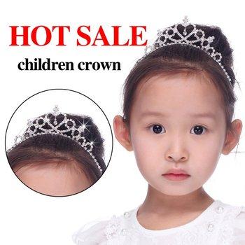 Free shipping 6pcs/lot Fashion Children Kids Rhinestone Princess Hair Wedding Tiaras Hair Crown Hair Accessories Christmas Gift