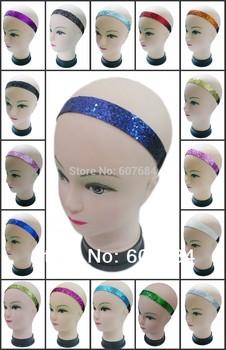"(1,200 pieces/lot) 3/4"" Sports Glitter Headbands Sold & Printing"