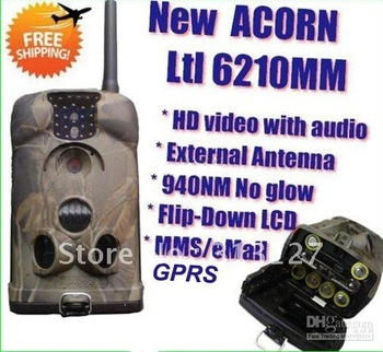 Ltl Acorn 6210MM External Antenna Ltl-6210MMS 12MP HD Video MMS GSM GPRS Wireless Cellular Game hunting scouting Trail Camera