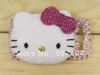 Free Shipping 1X  Bling 3D Hello Kitty Mirror on hard Pink crystal Skin cover case for Samsung Galaxy S3 i9300 wholesale