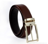 KANUOOU TOP Quality Brand New Style Mens Genuine Leather 100% Real Belt  Man Luxury Belts Golden Buckle K8005 Gift Present