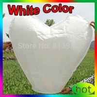 50pcs  White Heart shape Shipping UFO Sky Wishing Lantern Chinese Lantern Wedding Xmas Halloween Lamp ,FREE SHIPPING,SL045