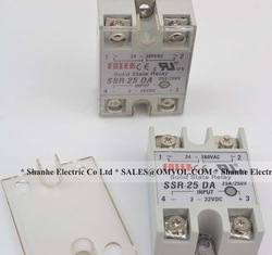 Manufacturer 25A SSR,input 3-32V DC output 24-380V AC single phase solid state relay SSR-25DA(China (Mainland))