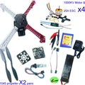 F02502-B RC QuadCopter MultiCopter UFO ARF/Kit no TX&amp;RX:KK V2.3 Circuit board+1000KV Motor+25A ESC+Lipo+F450 Flamewheel Freeship