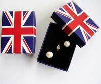 Free shipping wholesale 100pcs/lot Bristh Union Jack Flag Design Finger ring jewelry box 6.5*5*2.5cm