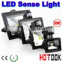 LED Outdoor Light PIR 50W LED Induction Sense sensor motion Flood Light floodlight foco lamp 85~265V Warranty 2 yeas CE X 3PCS