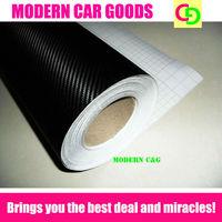 wholesale 152cm x 30m black 3d carbon fiber vinyl film car vinyl car wrap with air free channels practicable car stickers