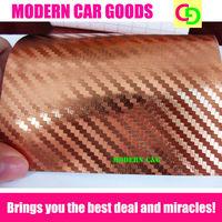 high quality 152cm x 30m Bronze 3d carbon fiber chrome vinyl film with air free drains car vinyl car wrap gorgeous car stickers