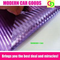 wholesale 152cm x 30m purple 3d carbon fiber chrome vinyl film car vinyl car wrap with air drains gorgeous car stickers