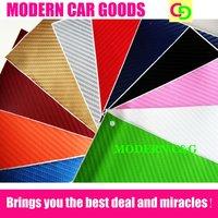 wholesale 127cm x 30m 3d carbon fiber vinyl film car vinyl car wrap practicable car stickers