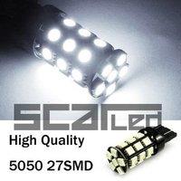 Car Bulbs T20 5050 27 SMD High Quality Auto LED Head Lights Turn Signal Lamps W21W