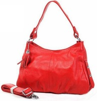 Graceful OL Style genuine leather handmade cowhide women's handbags tassel bags shoulder Cross-body bag A0915