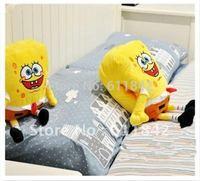 Free shipping cartoon Spongebob stuffed plush pillow, warm hand  pillow, plush cushion, Soft Foam Bead Cartoon Doll Pillow
