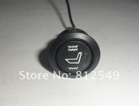 круглый переключатель углеродного волокна сиденья heater.free