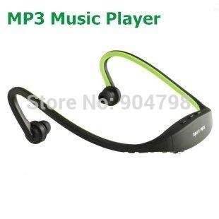 Green Sport MP3 Music Player Handsfree Headphone New