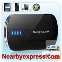 Freeship RAVPower RP-PB01 Power Bank 2200mAh with 6 DC Tips Built-in Flashlightfor iPod iPhone Smartphone Digital Camera E-Books