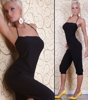 18% OFF New Women Fashion Sleeveless Tunic Romper Strap Short Jumpsuit Scoop Cute black adult overall jumpsuit pants MN87