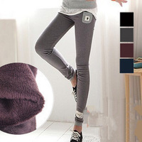 fashion sexy ladies' Thick Footless Jegging leggings cat Warm Winter Slim Stretch Pants 4 Colors