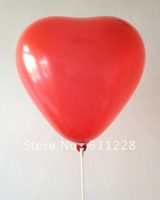 Free shipping-hot sale red heart shape party balloons for wedding deco 100pcs/lot