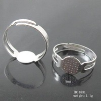 Beadsnice Jewelry Iron ring base nickel free lead safe diy fashion ring blanks setting wholesale for jewelry making ID4831