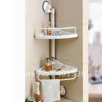 1907 Double-deck sector bathroom shelves Washcloth Shelf kitchen racks FreeShipping