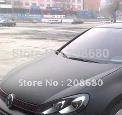 1.52*1M/50CM*2  matte black  matt black bubble free air channel : 2D flat CAR COLOR CHANGING Car Wrap Vinyl  film Freeshipping