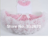 wholesale/retail factory direct sales nice design girls ruffled tank tops with fluffly petti dress/skirt