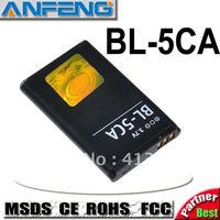 Real 1100mAh sticker 700mAh battery BL-5CA BL5CA battery for nokia phone 1110 1112 1116 1208 1600 free shipping 10pcs