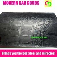 wholesale 1.52 x 30m black crocodile skin color changing vinyl film with air drains car vinyl car wrap practicable car stickers