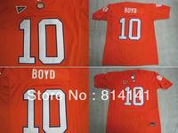 Wholesale-Free Shipping Cheap College Football Jersey Clemson Tigers Tajh Boyd #10 Orange Mix Order