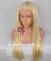 Sunnymay  Blonde #613 Color Natural Straight Brazilian Virgin Human Hair Full Lace Wigs In Stock